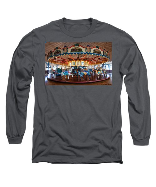 Long Sleeve T-Shirt featuring the photograph Carousel Ride by Jerry Cowart