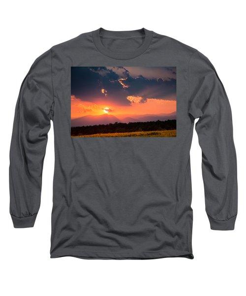 Carpathian Sunset Long Sleeve T-Shirt by Mihai Andritoiu