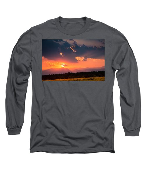 Long Sleeve T-Shirt featuring the photograph Carpathian Sunset by Mihai Andritoiu