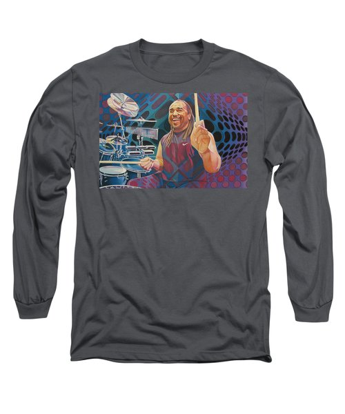 Carter Beauford Pop-op Series Long Sleeve T-Shirt by Joshua Morton