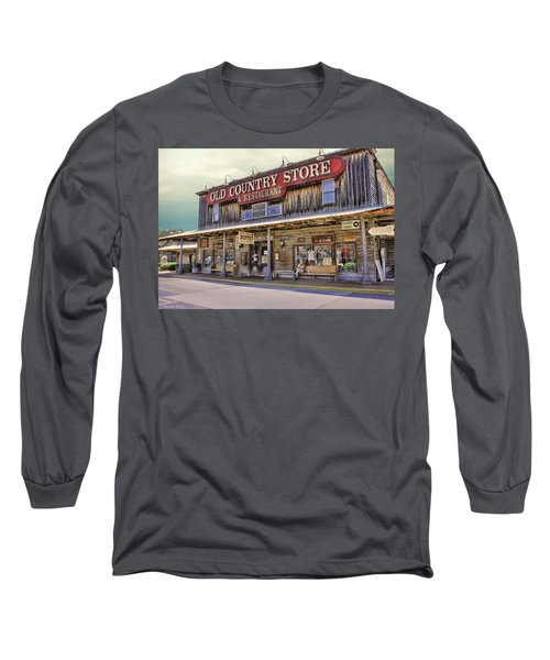 Casey Jones Village Store Long Sleeve T-Shirt by Bonnie Willis