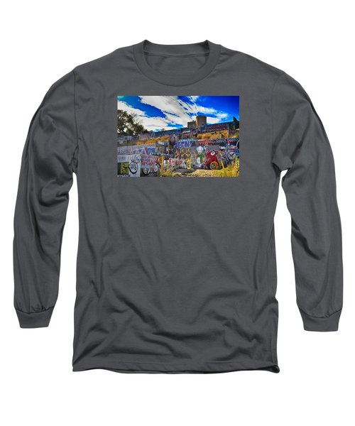 Castle Graffiti Art Long Sleeve T-Shirt