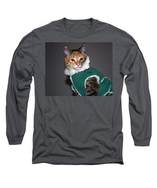 Cat In Patrick's Coat Long Sleeve T-Shirt