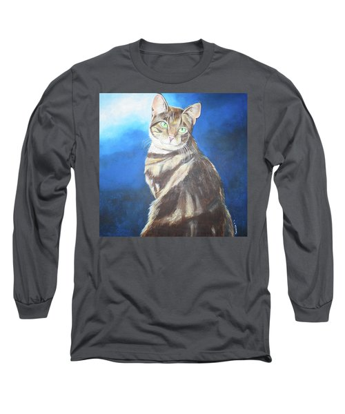 Cat Profile Long Sleeve T-Shirt by Thomas J Herring