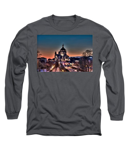 Cathedral Of Saint Paul Long Sleeve T-Shirt by Amanda Stadther