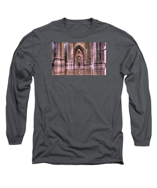 Cathedral Reflections Long Sleeve T-Shirt by Shelley Neff