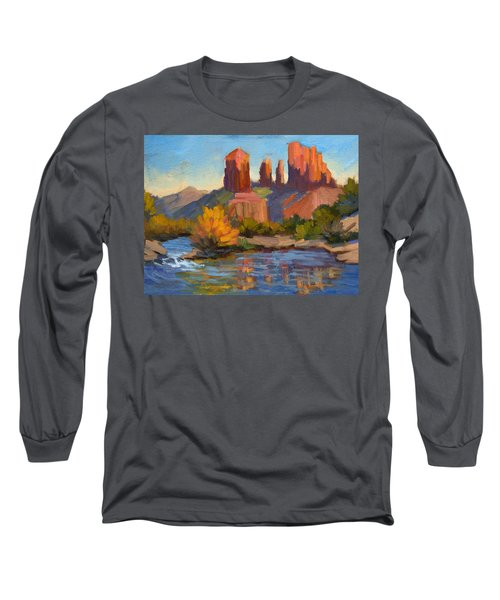 Cathedral Rock 2 Long Sleeve T-Shirt by Diane McClary