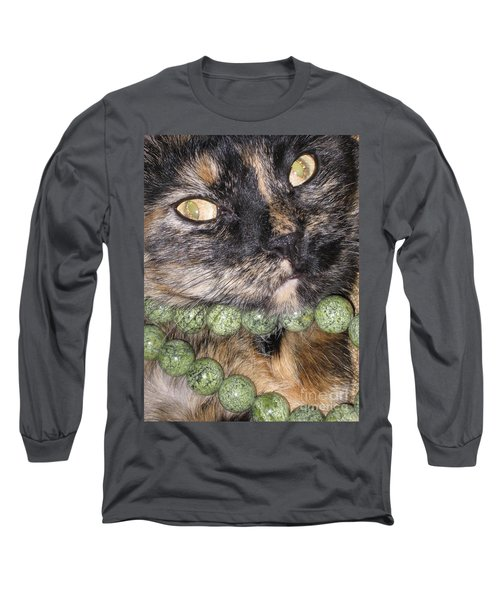 One In A Million... Beauty Of Cat's Eyes. Hello Pearl Collection Long Sleeve T-Shirt
