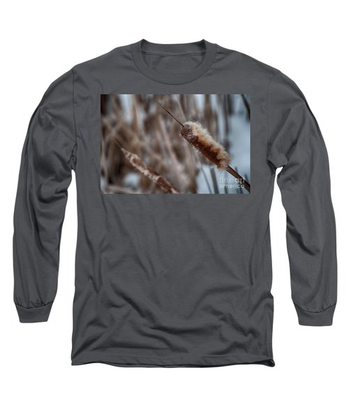 Long Sleeve T-Shirt featuring the photograph Cattails by Bianca Nadeau
