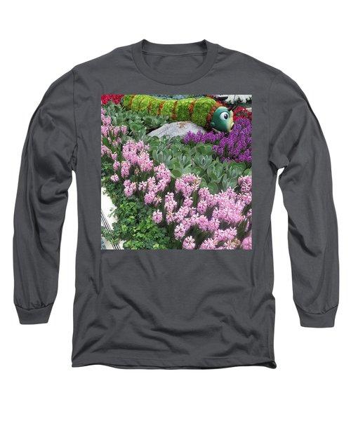 Long Sleeve T-Shirt featuring the photograph Catterpillar Large Flower Garden Vegas by Navin Joshi