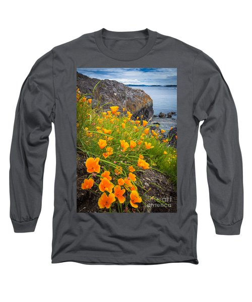 Cattle Point Poppies Long Sleeve T-Shirt