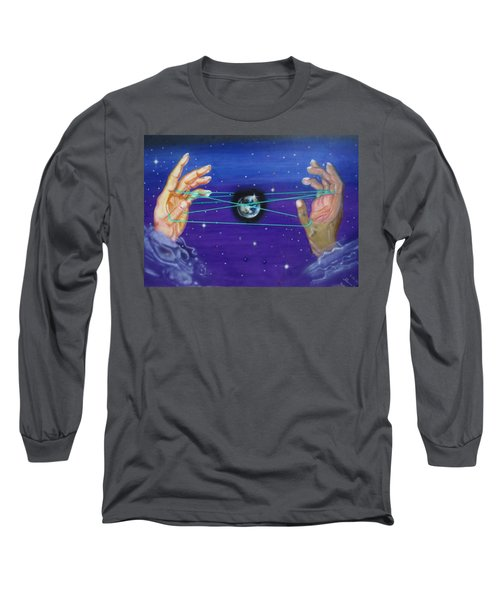 Celestial Cats Cradle Long Sleeve T-Shirt by Thomas J Herring