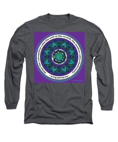 Celtic Butterfly Mandala Long Sleeve T-Shirt