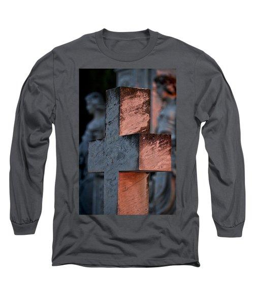 Cemetery Cross - Hvar Croatia Long Sleeve T-Shirt
