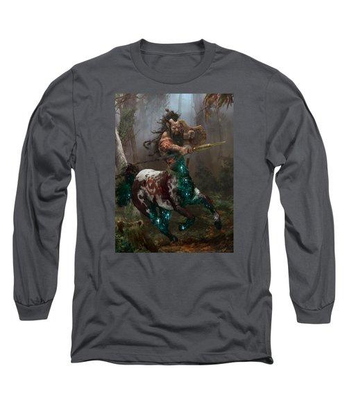 Centaur Token Long Sleeve T-Shirt by Ryan Barger