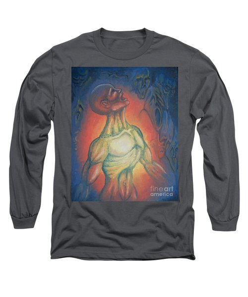 Long Sleeve T-Shirt featuring the painting Center Flow by Michael  TMAD Finney