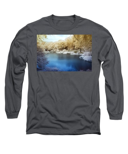 Central Park Lake Infrared Long Sleeve T-Shirt