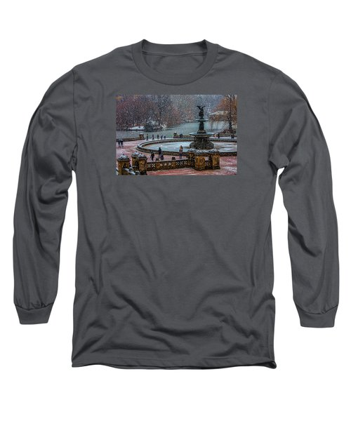 Central Park Snow Storm Long Sleeve T-Shirt