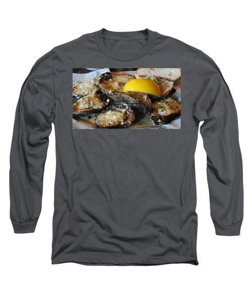Chargrilled Oysters Long Sleeve T-Shirt by Steve Archbold
