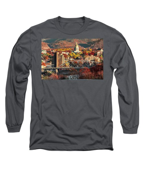 Charleston And Wv Capitol Long Sleeve T-Shirt by Mary Almond