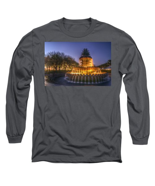 Charleston Pineapple Fountain Long Sleeve T-Shirt