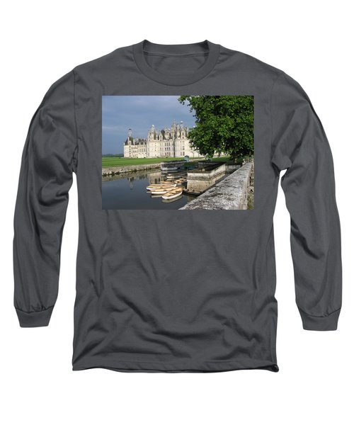 Chateau Chambord Boating Long Sleeve T-Shirt by HEVi FineArt