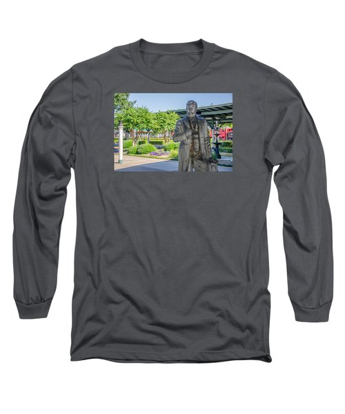 Long Sleeve T-Shirt featuring the photograph Chattanooga Choo Choo Court Yard by Susan  McMenamin