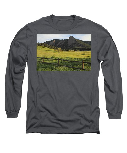 Chautauqua Park And Flatirons Long Sleeve T-Shirt