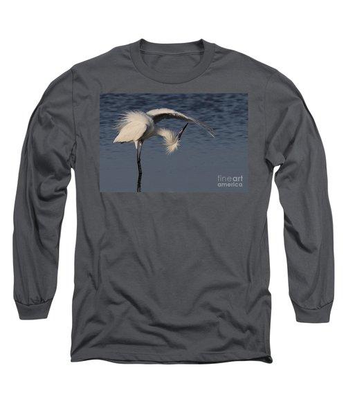 Checking For Leaks - Reddish Egret - White Form Long Sleeve T-Shirt