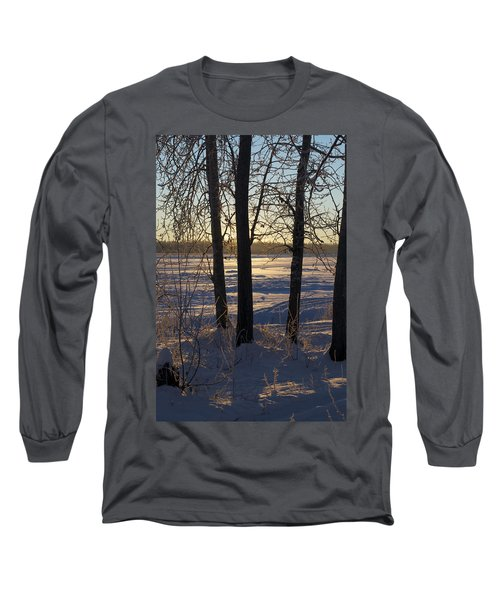 Chena River Trees Long Sleeve T-Shirt by Cathy Mahnke