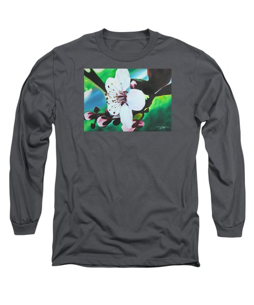 Long Sleeve T-Shirt featuring the painting Cherry Blosom by Joshua Morton