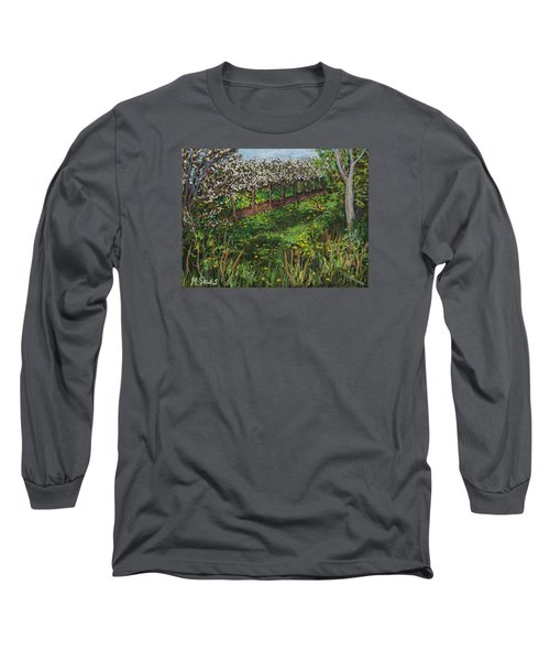 Cherry Orchard Evening Long Sleeve T-Shirt by Madonna Siles