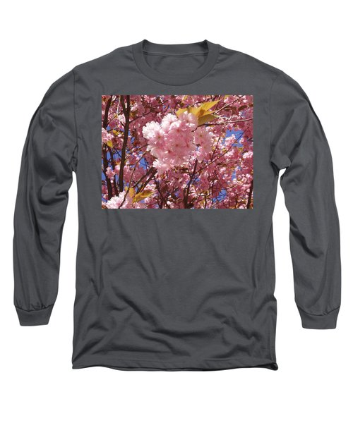 Cherry Trees Blossom Long Sleeve T-Shirt