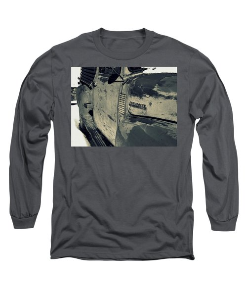 Arroyo Seco Chevy In Silver Long Sleeve T-Shirt