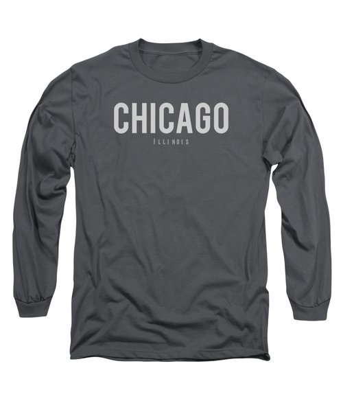 Chicago, Illinois Long Sleeve T-Shirt by Design Ideas