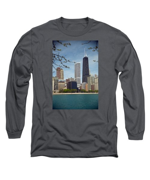Chicago Spring Long Sleeve T-Shirt by Lawrence Boothby
