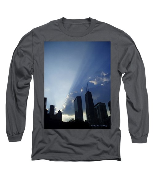 Chicago Sunset Long Sleeve T-Shirt by Verana Stark