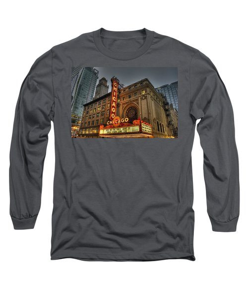 Chicago Theatre Hdr Long Sleeve T-Shirt