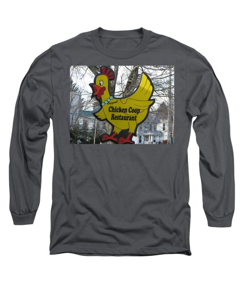 Chicken Coop Long Sleeve T-Shirt by Michael Krek