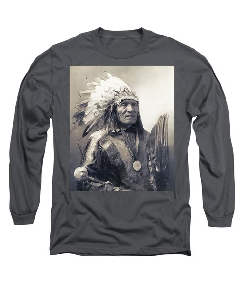 Chief He Dog Of The Sioux Nation  C. 1900 Long Sleeve T-Shirt