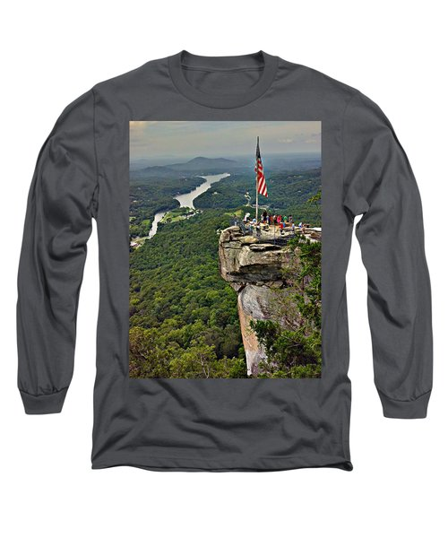 Long Sleeve T-Shirt featuring the photograph Chimney Rock Overlook by Alex Grichenko