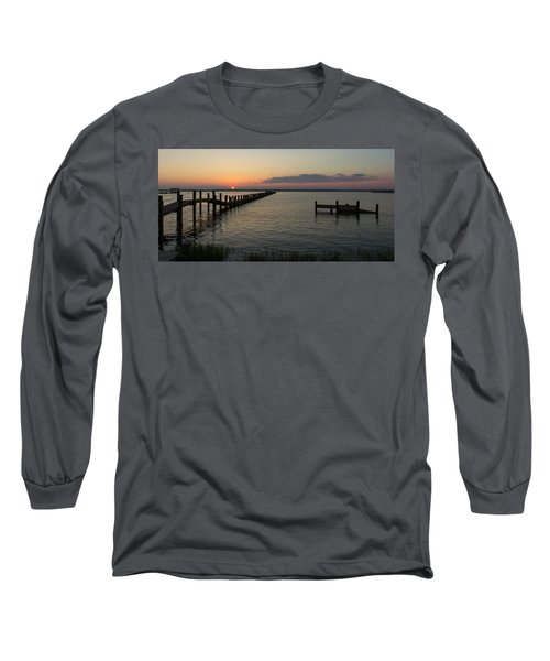 Chincoteague Island Sunset Long Sleeve T-Shirt