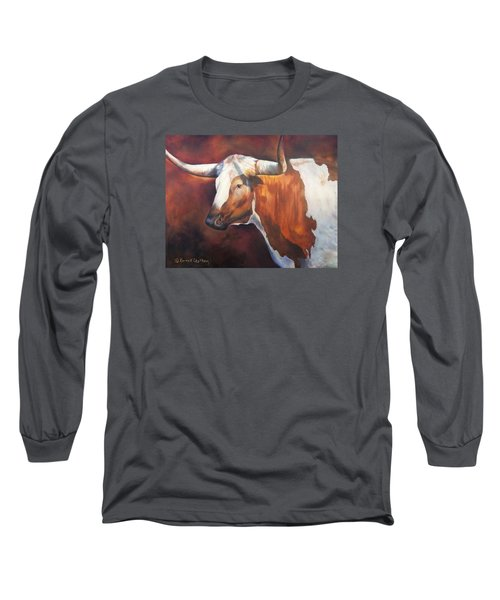 Chisholm Longhorn Long Sleeve T-Shirt by Karen Kennedy Chatham