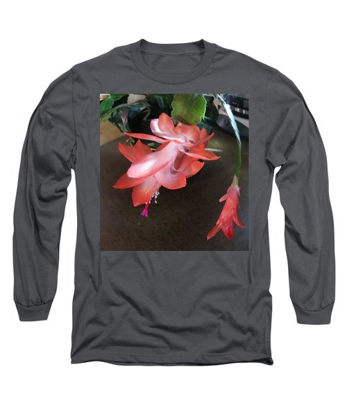 Christmas Cactus Bloom Long Sleeve T-Shirt
