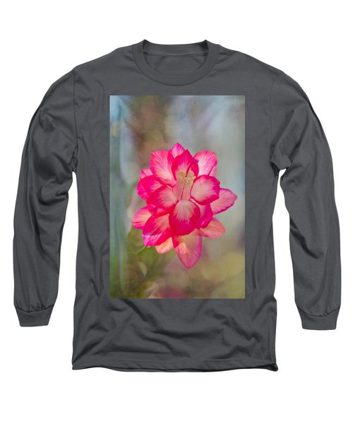 Christmas Cactus Bokeh Long Sleeve T-Shirt