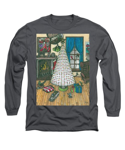 Christmas Card Drawing Long Sleeve T-Shirt
