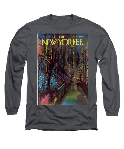Christmas In New York Long Sleeve T-Shirt