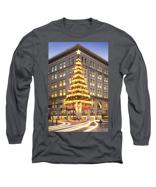 Christmas In Pittsburgh  Long Sleeve T-Shirt by Emmanuel Panagiotakis