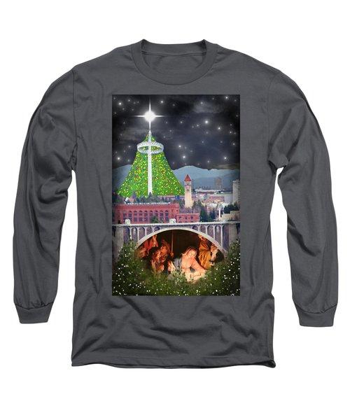 Christmas In Spokane Long Sleeve T-Shirt