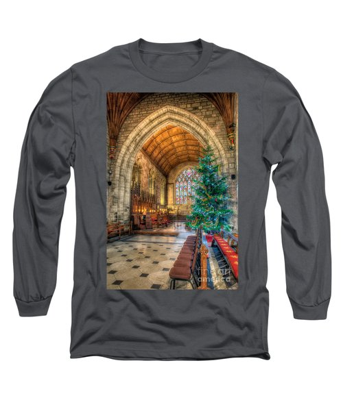 Christmas Tree Long Sleeve T-Shirt by Adrian Evans